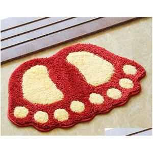 2018 Hotsale Footprints Shaped Bathroom Carpet,soft Floor Mat,super Water Absorption Bath Rug,tapis Salle De Bain,anti qylACL mj_bag
