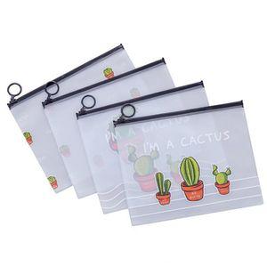 حقيبة سفر ماكياج أدوات الزينة الإناث ماكياج المنظم سعة كبيرة شفاف الأقلام حقيبة المرأة الصبار البلاستيك قلم حقيبة PPA3038