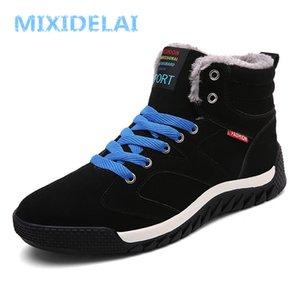 Mixidelai Süet Sıcak Tutmak Kar Kış İş Ayakkabı Erkekler Ayakkabı Moda Kauçuk Ayak Bileği Çizmeler Büyük Boy 201223