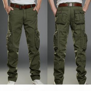 Mens Big Size Army Green Cargo Pants Casual Pant Male Multi-Pocket Military Camouflage Pants Men Pockets Trousers