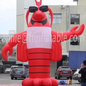 Gigante inflável lagostim grande desenhos animados Lobster modle para festival publicidade 7m inflável lagostas camarão camarão 23ft logotipo pode ser adicionado