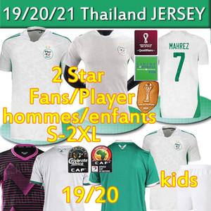 الجزائر Mailleot De Football Shirts 2020 21 كرة القدم الفانيلة مراوح المشجعين Mahrez Brahimi Bennacer 19 20 2 Star Algeria Men Kids Offic Thai