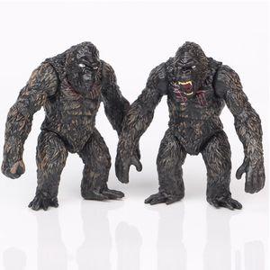 2pcs set Movie Chimpanzee Model Action Figure Wild Animals Super Big Monster Gorilla Figurine