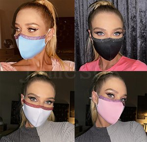 Bling Bling Rhinestone face mask fashion crystal reusable face mouth cover adult nightclub designer mask DB264