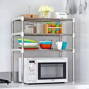 2 3-Tier Microwave Shelf Rack Kitchen Shelf Spice Organizer Kitchen Storage Rack Bathroom Organizer Shelf Book Shoes Shelve