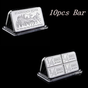 10pcs Northwest Territorial Mint 999 Fine Stagecoach Silver Divisible Bar Coin Metal Crafts Gifts Replica 50 x 28mm 1OZ Silver Bar