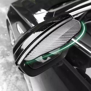 Универсальное углеродное волокно автомобиль заднего вида зеркало мигающее зеркало крышка дождя лезвия DIY автозапчастей