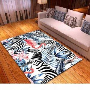 Pinkforest Style Zebra Flamingo Tappeti Tappeto Girls Camera da letto Mat Baby Play Mat Comodino Area Tappeti Home Soggiorno Moquette