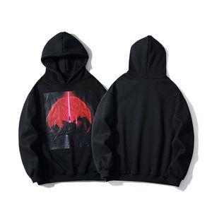 Dark Tide brand street hip-hop High Street hooded hoodie male couple lazy style printed loose hoodie JBT2
