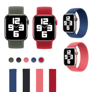 Nylon Braided Loop strap for Apple watch 44mm 40mm 38mm 42mm band for iWatch 3 4 5 se 6 series stretch fabric bracelet