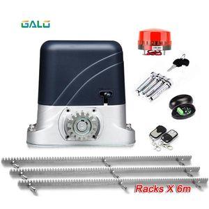 Basic Model Sliding Gate Opener AC600kg 1400Lbs with 6 meters steel rack Zipper gear frame for Home Villa Metal Iron gate