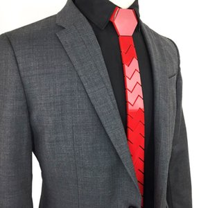 Impressive Red Fashion Wedding Outfit Matched Necktie Stylish Red Hex Ties Skinny All Match Men Accessory Unique Style Neck Wear