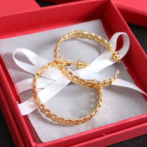 Fashion hoop Circle earrings for lady Women Party Wedding Lovers gift engagement Jewelry for Bride With BOX