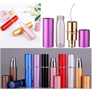 Smooth Aluminium Perfume Bottle 5Ml Refillable Perfume Atomizer Travel Bottles Fragrance Spray Bottles Home Fragrances Bottles Tqq Npu3P