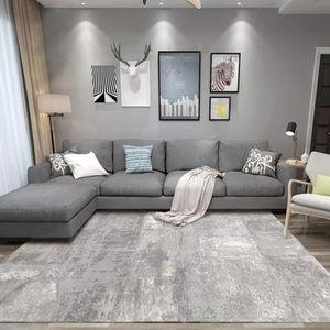 Современный абстрактный простой ковер и ковер черный белый чернил рисунок напечатанные лайнеты гостиной спальня зона коврики не скольжения коврики y200527