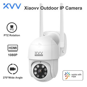 Cameras Xiaovv Smart P1 Outdoor Camera 1080P 270° PTZ Rotate Wifi Webcam Humanoid Detect Waterproof Security Camers Work For Mi Home App