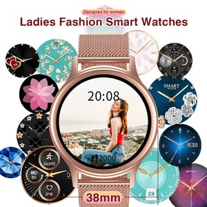 Individuell anpassen Smart Watch mit Herzfrequenz Gesundheitsmanagement Smartwatch für Frauennachrichten Erinnerung WhatsApp Facebook