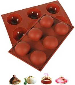 قوالب السيليكون، العفن الخبز للشوكولاتة، كعكة، هلام، مهلبية، الصابون اليدوية، شكل دائري نصف المجال العفن غير عصا