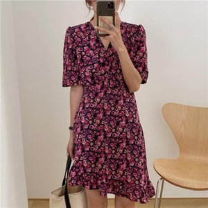 Plus Size New Summer Dress Girls Boho Party Female Vintage Dress print short Sleeve Women Dresses long oversize Robe Vestido1