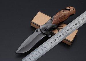 Couteau pliant Titanium Titanium X50 à flipper 440C Poignée en bois de la lame EDC Pochette de poche de poche en plein air Tactique Camping Tactical Couteau de survie DA43 30