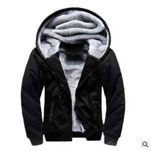 2020 Korean sports Plush men's coat new men's sweater hooded autumn winter men's baseball uniform
