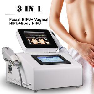 2021 Nouveau 3 en 1 Vaginal HIFU Machine de machine de levage de la peau de rajeunissement de la peau Machine de rajeunissement corps amincissant salon de beauté