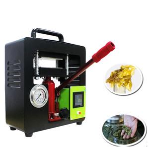 Ручной гидравлический максимальный 10тон мотин пресс-машина 6 * 12см двойных прессованных тепловых пластин TC WAX концентрат масляного травы экстрактора