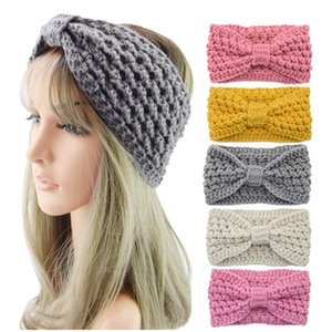 Winter keep warm Knitted Headband Sports Hairband Turban Yoga Head Band Pineapple bubble bow knitting Headbands Party Favor DHA2729