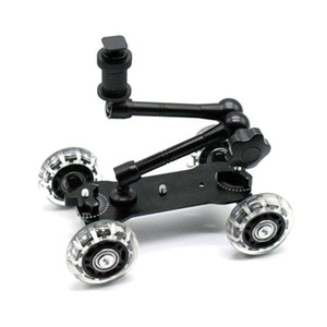 Mobile Rolling Sliding Dolly Stabilizer Skater Slider 11 Inch Articulating Magic Arm Camera Rail Stand Photography Car