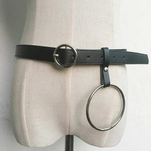 Hot Fashion Leather Punk Harajuku Big O Rin Exaggerated Big Metal Ring Metal Hoop belt for Women1