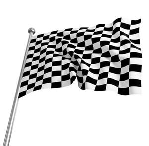 3 * 5FT Checkered Racing Flag - 90cm * 150cm Schwarz Weiß Plaid Nascar Flagge Motorsport Racing Banner Home Dekoration Partyangebot