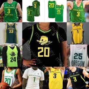 Custom Oregon Ducks Basketball Jersey NCAA College Payton Pritchard Anthony Mathis Chris Duarte Juiston Okoro Patterson sera Richardson Bol