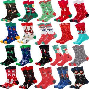 New 2021 Christmas Socks Women New Colorful Cotton Happy Men's Socks Harajuku Hip Hop Funny Cartoon Santa Claus Biscuits