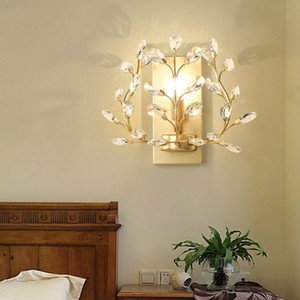 Bathroom Rustic Crystal Wall Light Balcony metal vanity light Entrance Porch Bedside Corridor led Mirror Arandela
