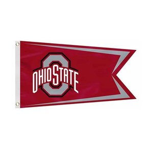 Ohio State Buckeyes Logo Flag NCAA Flag 3x5FT Double Stitched Decoration Banner 90x150cm Sports Digital Printed Wholesale