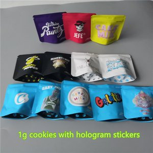 New 1g Cookies Bags 12 Types COOKIES California SF Gary Payton Snow man Cake Mix Touch Skin Cookies Jeff OG White runtz package packing