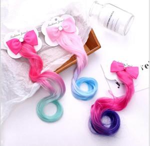 Junge und Schönheit Kinder Mode Farbe Bowknot Perücke Haarnadel Mädchen Baby Duckbill Clip Kopfschmuck Pony Clip Haarschmuck