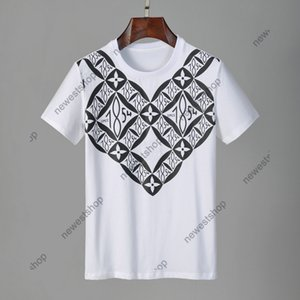 Yaz 2021 Yeni Tasarımcılar Mens IV Giysi Tshirt Eski Çiçekler Renk Mektup Baskı Rahat T-shirt Kadınlar Lüks T Gömlek Elbise Tee Tops