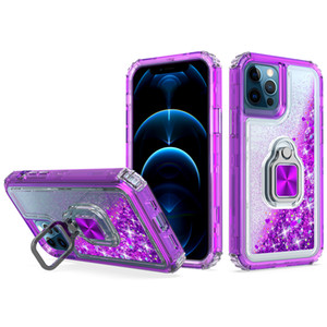 Armor bumper shockproof phone case For iphone 12 mini 12 pro max Clear Crystal Cover luxury Finger Ring Kickstand Back Cover