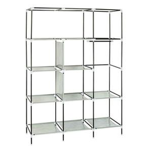 High Quality Portable Closet Wardrobe Clothes Shoe Rack Storage Organizer Shelf