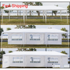 10x30ft 8 الجانبين 2 أبواب في الهواء الطلق مظلة حزب خيمة الزفاف الأبيض 3x9m شرفة جناح مع spi qyleol bdesports
