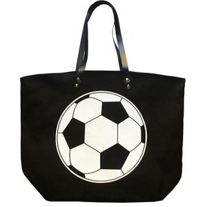 Foldable Shopping Bag Printed Portable Handbags Baseball Tote Softball Basketball Football Volleyball Canvas Bags 8 Style FFF3401