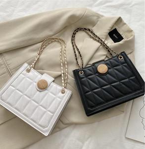 2020 hot autumn trendy fashion Chain shoulder bag Women handbag collocation messenger bag simple PU Embroidery thread