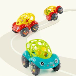Baby Car Doll Toy Crib Mobile Bell Rings Grip Gutta Percha Hand Catching Ball s for Newborns 0-12 Months 001