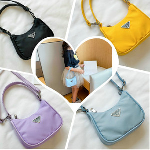 Newest Girl Handbags Nylon Plain Color One-Shoulder Bags Children Cute Letter Casual Portable Messenger Bag Accessories 7 Colors