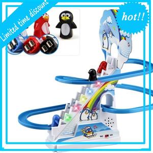 Kinder lustige Pinguin-Falle Musikspiele alt-kind Puzzle montiert Slide Interactive Toys Elektrische Kraftfahrzeug Weihnachtsgift