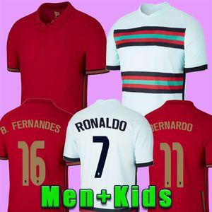 2020 Portogallo maglie RONALDO maglia da calcio Coppa Europa JOAO FELIX J.FÉLIX BERNARDO B.FERNANDES PEPE uomini bambini maglie da calcio kit 20 21 2020 Portugal jerseys