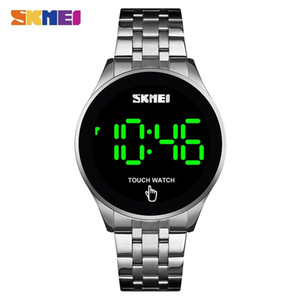 SKMEI 1579 Fashion Touch Screen Casual Digital Men Watches LED Display Male Clock 30M Waterproof Shock Resistant Stainless Steel Wristwatch