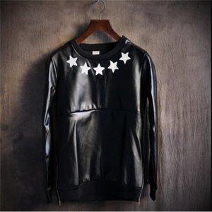 S-6XL 2020 Новая мужская одежда для волос Стилист GD мода хип-хоп Свободные крутые звезды кожаная куртка толстовки плюс костюмы размера