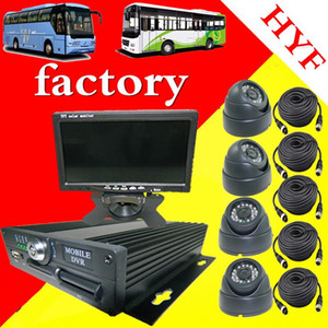 mdvr car monitoring package 4 bus SD card car video recorder full set of mobile recording camera factory
